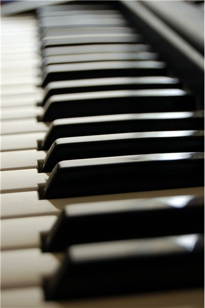 Keyboard of Piano