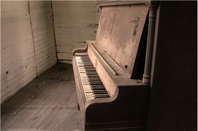 Old Piano in Old Church