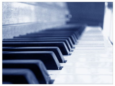 Piano Keyboard at Close View